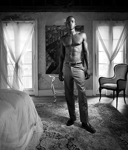 Fashion photograph of Miami model Omar Bain