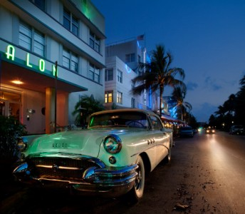 Art Deco scene from Miami's South Beach