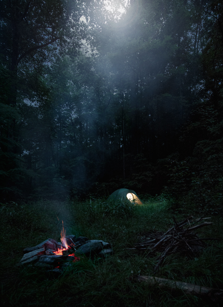 camping in the Pisgah Forest