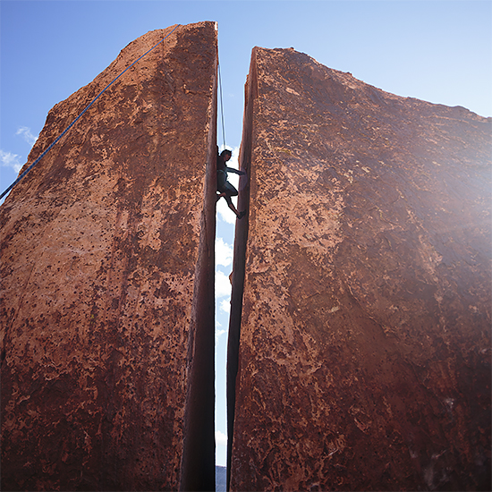 climbing in red rock by Miami photographer Tom Clark